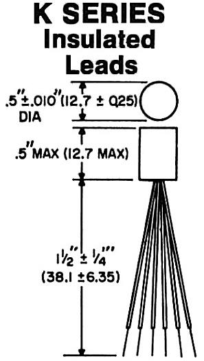 ultra miniature transformers n series thru hole and k